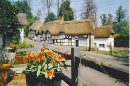 Un pueblo con casas de tejados vegetales que parecen de cuento en Inglaterra (Wherwell)