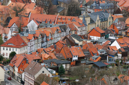 Entre los pueblos de cuento congelados en la Edad Media en Alemania, Wernigerod