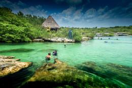 Un acuario natural gigante conectado al Caribe en la Riviera Maya (cenote Yal-ku) #relatodeviaje
