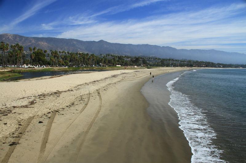 Playa de Santa Barbara en California