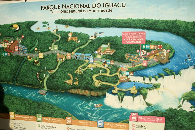 mapa cataratas lado Brasil