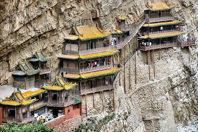 Un monasterio colgado en un acantilado en China (Hanging Monastery) - 101 Lugares increíbles