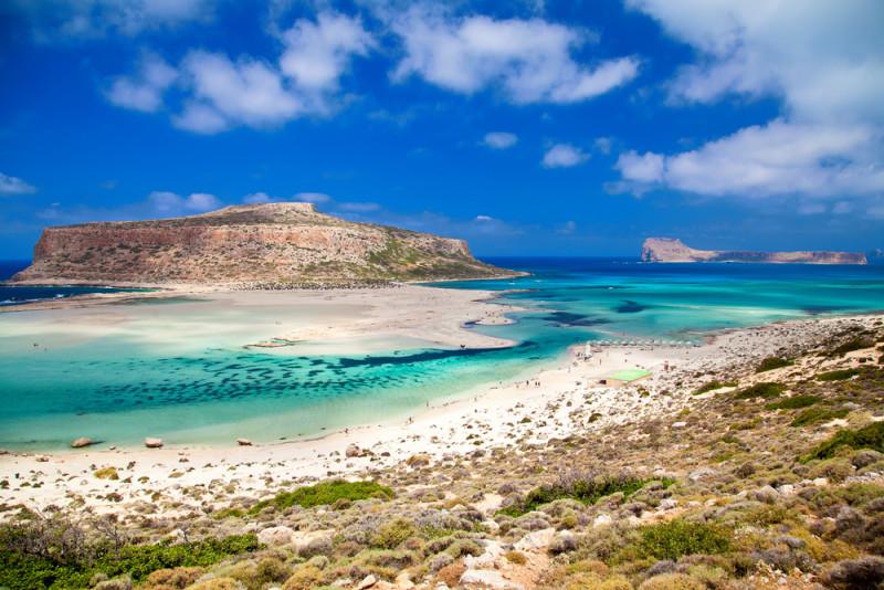 Una bahía turquesa con playas de arena rosa en Grecia (Gramvousa) - 101 Lugares increíbles
