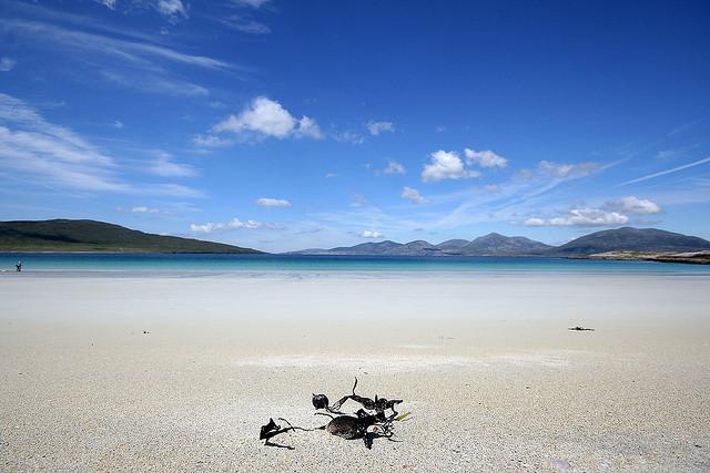 Una playa que tal vez no esperarías encontrar en Escocia (Luskentyre) - 101 Lugares increíbles