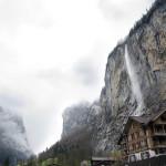 Overlooking the Lauterbrunnen valley