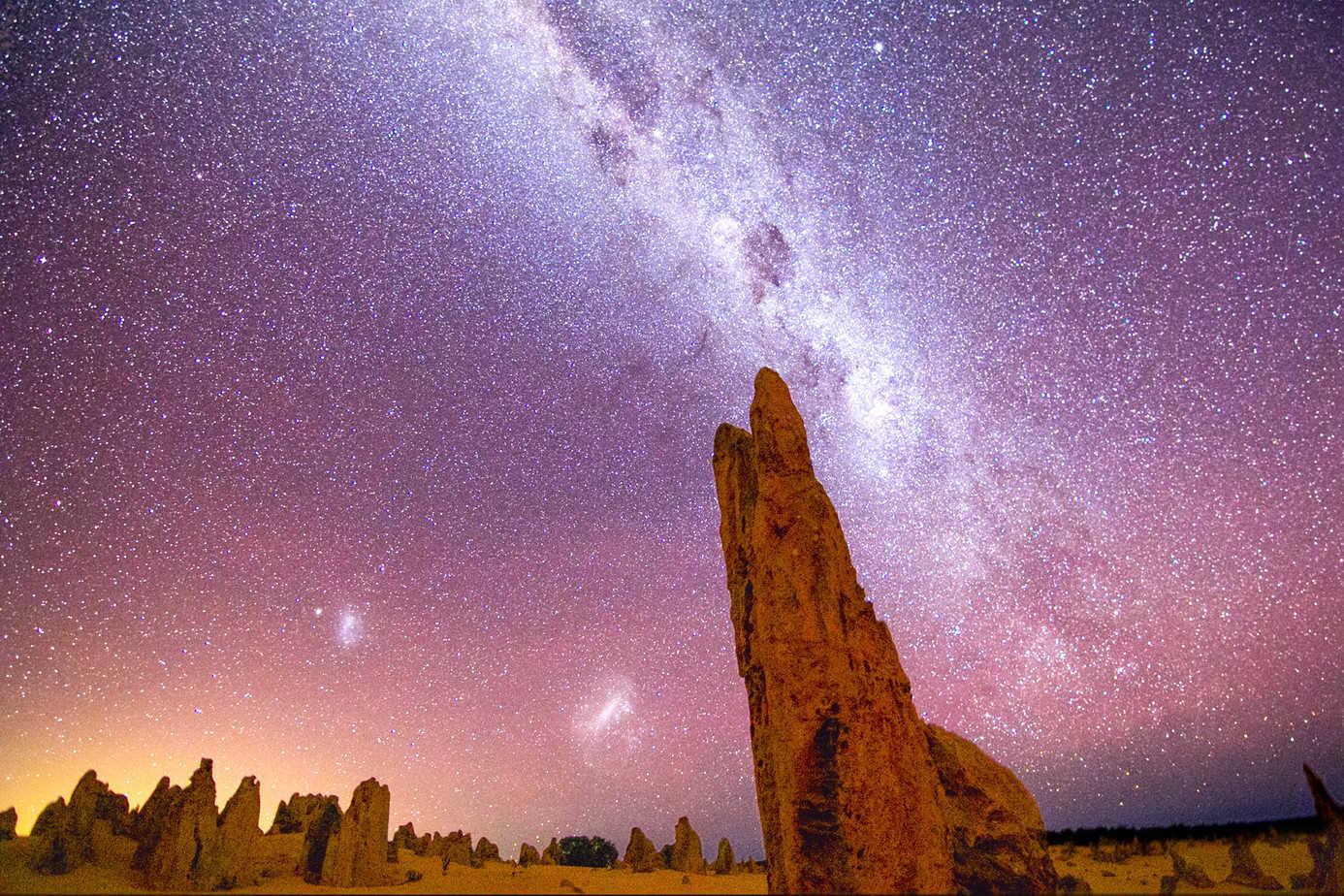 El desierto de los pináculos, en Australia (Pinnacles
