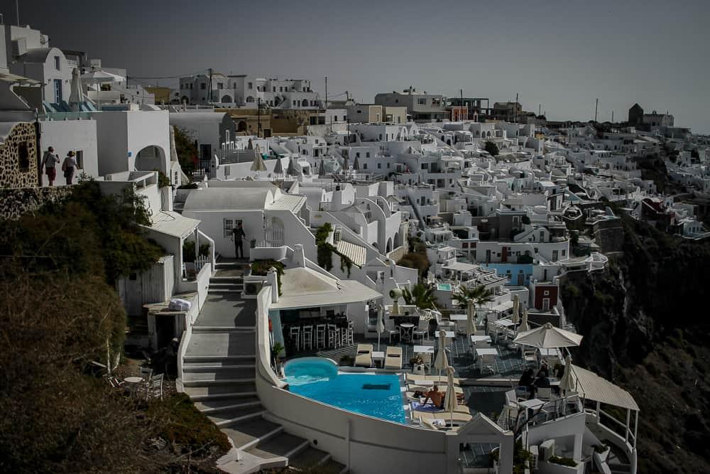 pueblos de Santorini donde alojarse