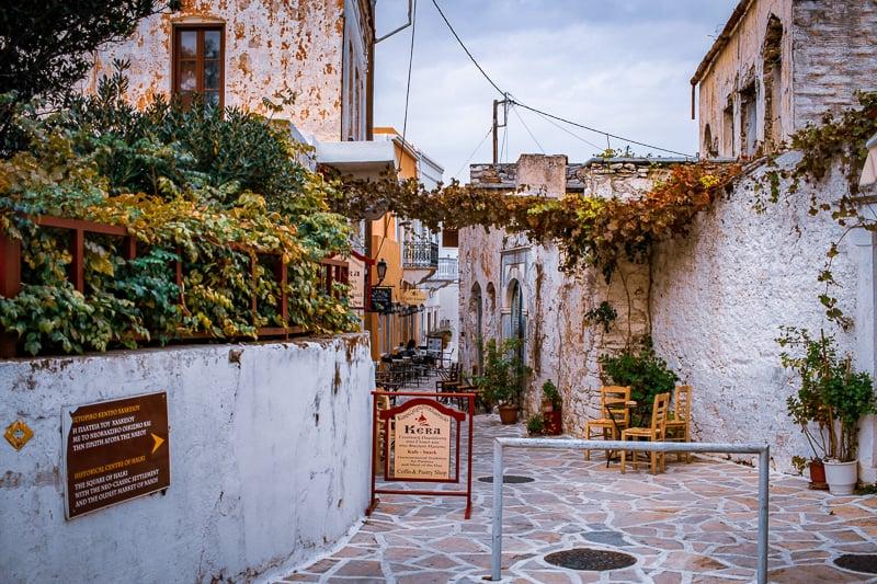 pueblo bonito en isla de Naxos