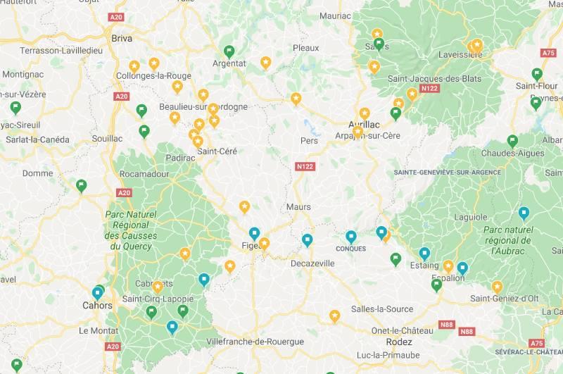 ruta por pueblos de Francia