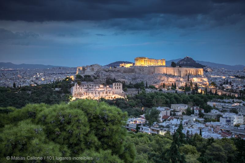 mirador Filopapo en Atenas
